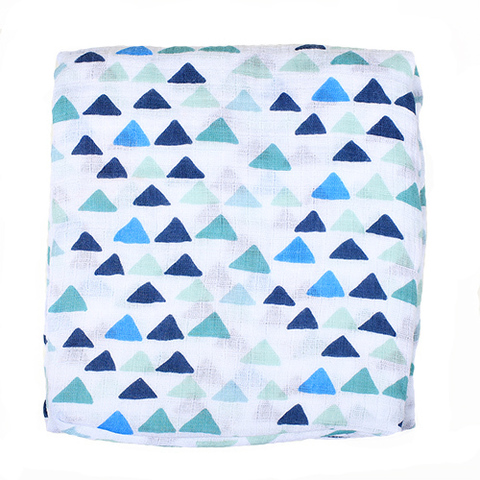 Муслиновая пеленка GlorYes! Треугольники 120х120 см