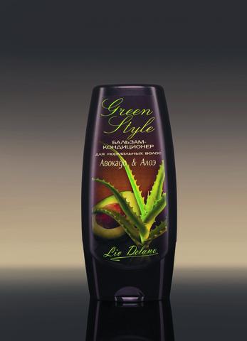 Liv delano Green Style Бальзам-кондиционер «Авокадо&Алое» для нормальных волос 200гр