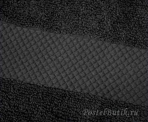 Полотенце 40х75 Mirabello Microcotton черное