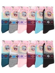 A18-1 носки женские 37-42 (12шт.), цветные