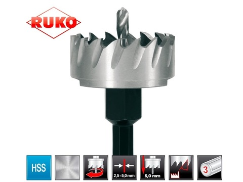 Коронка(сверло корончатое) по металлу Ruko HSS-G 33мм 128033