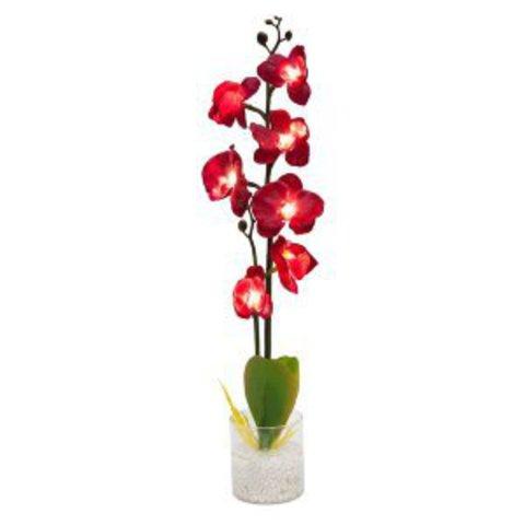 Декоративный светильник «Орхидея», красные цветы, PL307 (Feron)