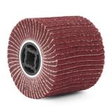 Барабан тип G ламельный комбинированный (бордовый)  неткан.полотно/шлиф.бумага #240, 120х100мм, посадка 19 мм