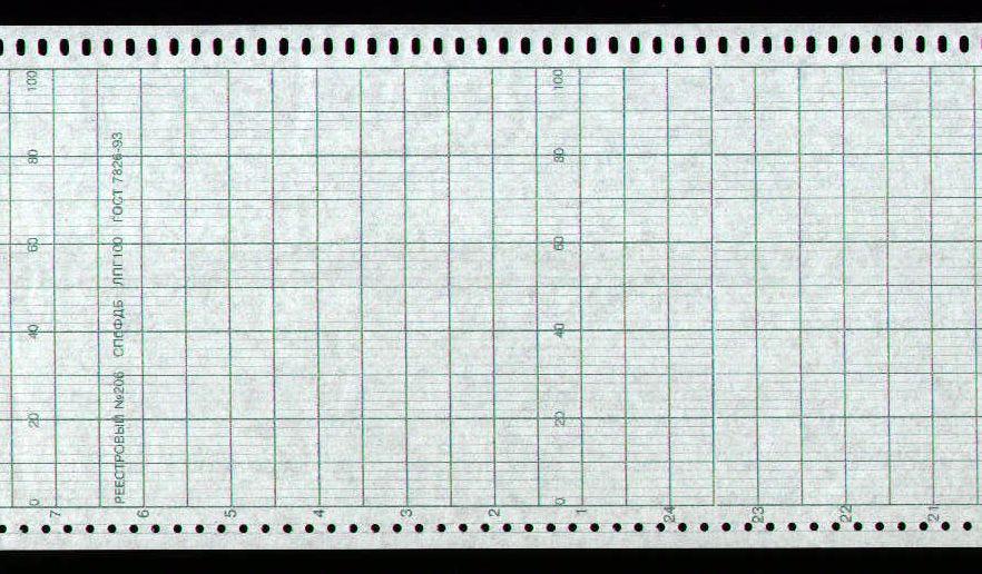 Диаграммная рулонная лента, реестровый № 206 Альфалог (40,50 руб/кв.м)