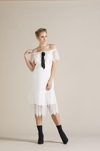 Платье 09779 белый