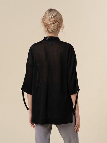Женский джемпер черного цвета из вискозы - фото 2