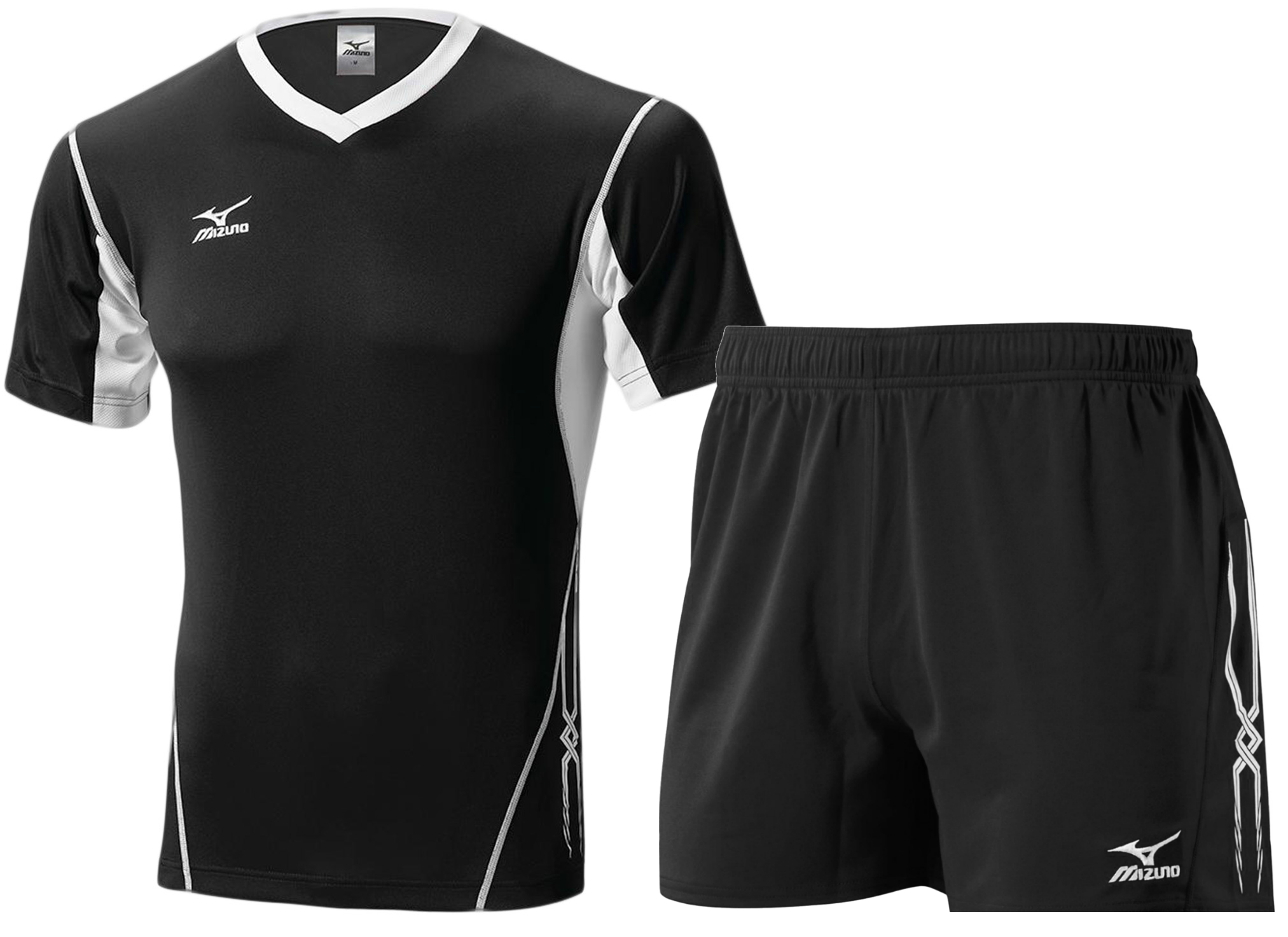 Мужская волейбольная форма Mizuno Premium (V2EA4501M 90-V2EB4501M 09) черная