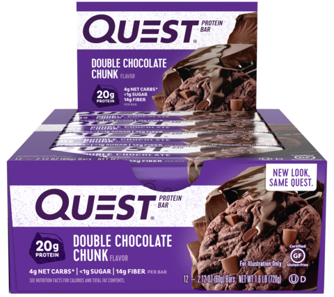 Quest Nutrition Quest Protein Bar Double Chocolate Chunk (Печенье с двойным шоколадом), 1 шт