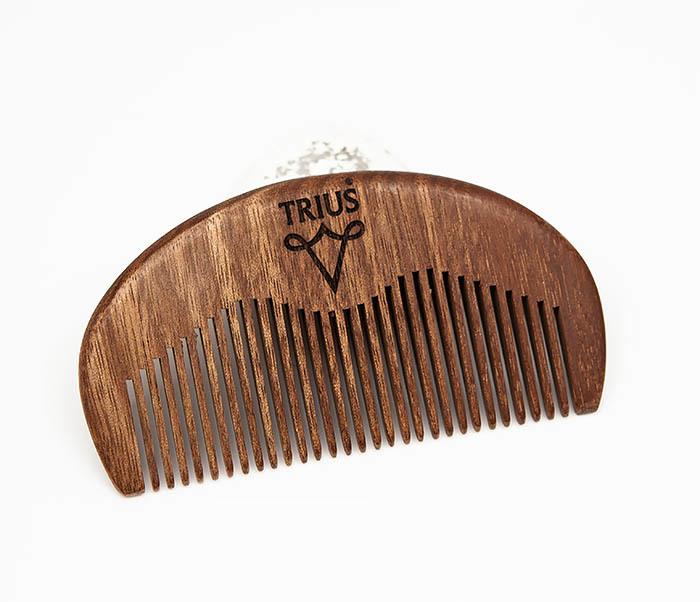 RAZ246-2 Расческа гребень для бороды TRIUS из дерева фото 01