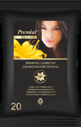 Bumfa Group Premial Салфетки для интимной гигиены женские с экстрактом лилии 20шт