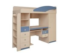 Кровать-чердак СБ-411 б/матр+лестн.№2