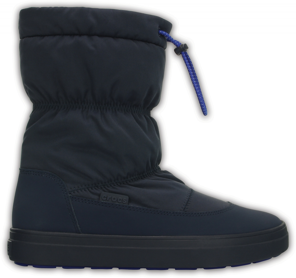 Женские сапожки Crocs Women's LodgePoint Pull-on Boot Navy