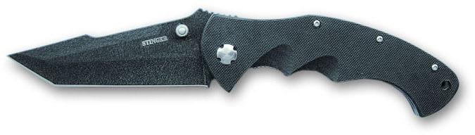 Нож складной Stinger 90 мм (черный) G10-7805B