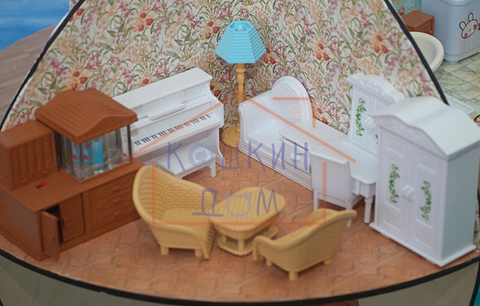 Комплект кукольной мебели для гостиной