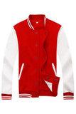 Бомбер красный с белым фото