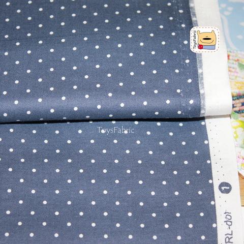Ткань для пэчворка Dailylike 20944 (горох на темно-синем) 45х55см