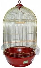 N1 клетка для птиц 40*70 золотая, круглая