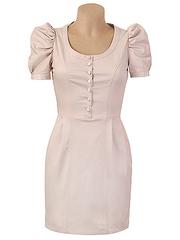 10-0818 платье женское, бежевое