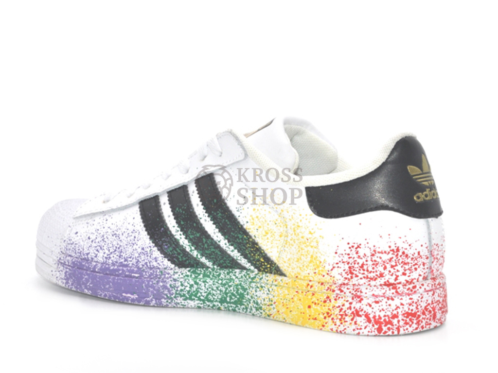 Adidas Women's SuperStar Pride Pack White