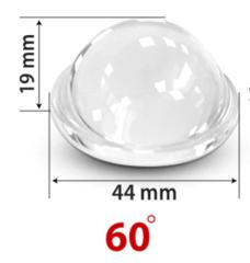 Партия 10 штук / Линза для фитосветильника 44 мм