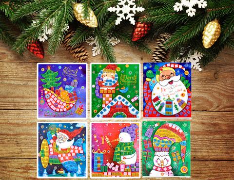 036_6606 Набор  6 открыток-аппликаций