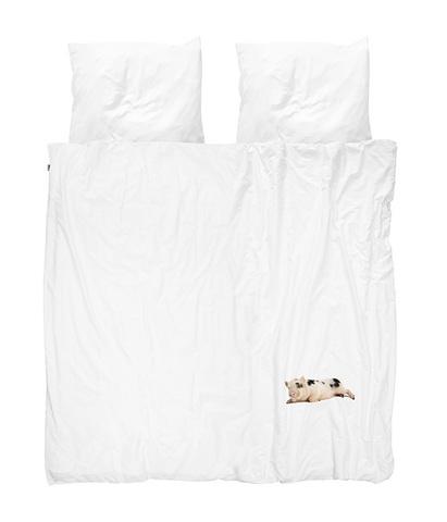 Комплект постельного белья Поросенок белый 200x220см, Snurk
