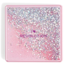 Палетка теней Makeup Revolution I Heart Makeup Glitter Palette, One True Love
