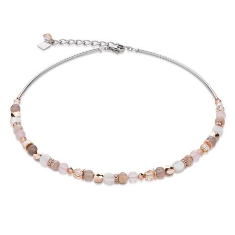 Колье Coeur de Lion 4914/10-1019 цвет бежевый, розовый, белый
