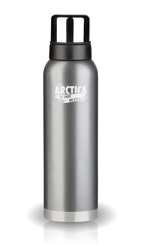 Термос Арктика (1,2 литра) с узким горлом американский дизайн, серый