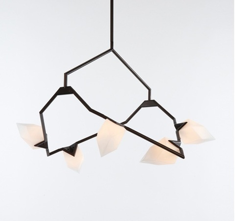 replica Seed chandelier by BB for Roll & Hill ( black )