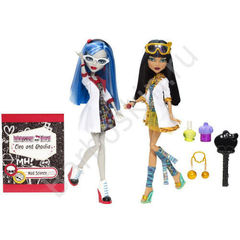 Игровой набор Monster High куклы Клео де Нил (Cleo de Nile) и Гулия Йелпс (Ghoulia Yelps) - Безумная наука (Mad Science), Mattel
