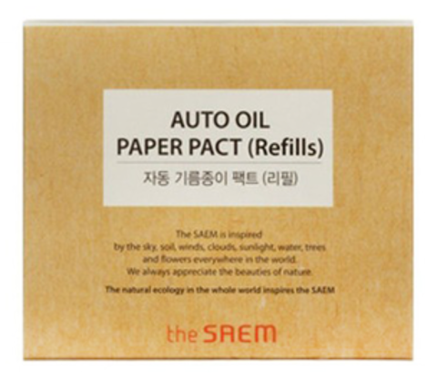 THE SAEM Салфетки матирующие набор Auto Oil Paper Pact(Refills) 50шт