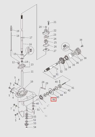 Шайба вала винта для лодочного мотора T9.8 Sea-PRO (13-46)