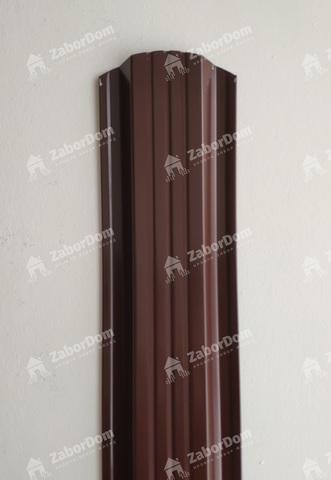 Евроштакетник металлический 115 мм RAL 8017 П - образный двусторонний 0.5 мм