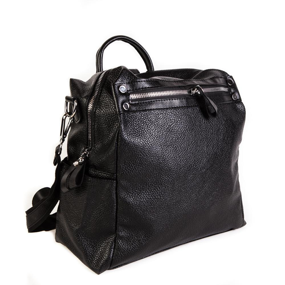 Женский средний рюкзак 29х32х12 см чёрный 4096-2-1