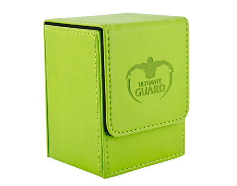 Ultimate Guard - Ярко-зеленая кожаная коробочка