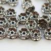 77506 Бусина - рондель Сваровски Crystal (цвет - черный никель) 6х3 мм