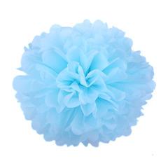 Помпон из бумаги 30 см голубой