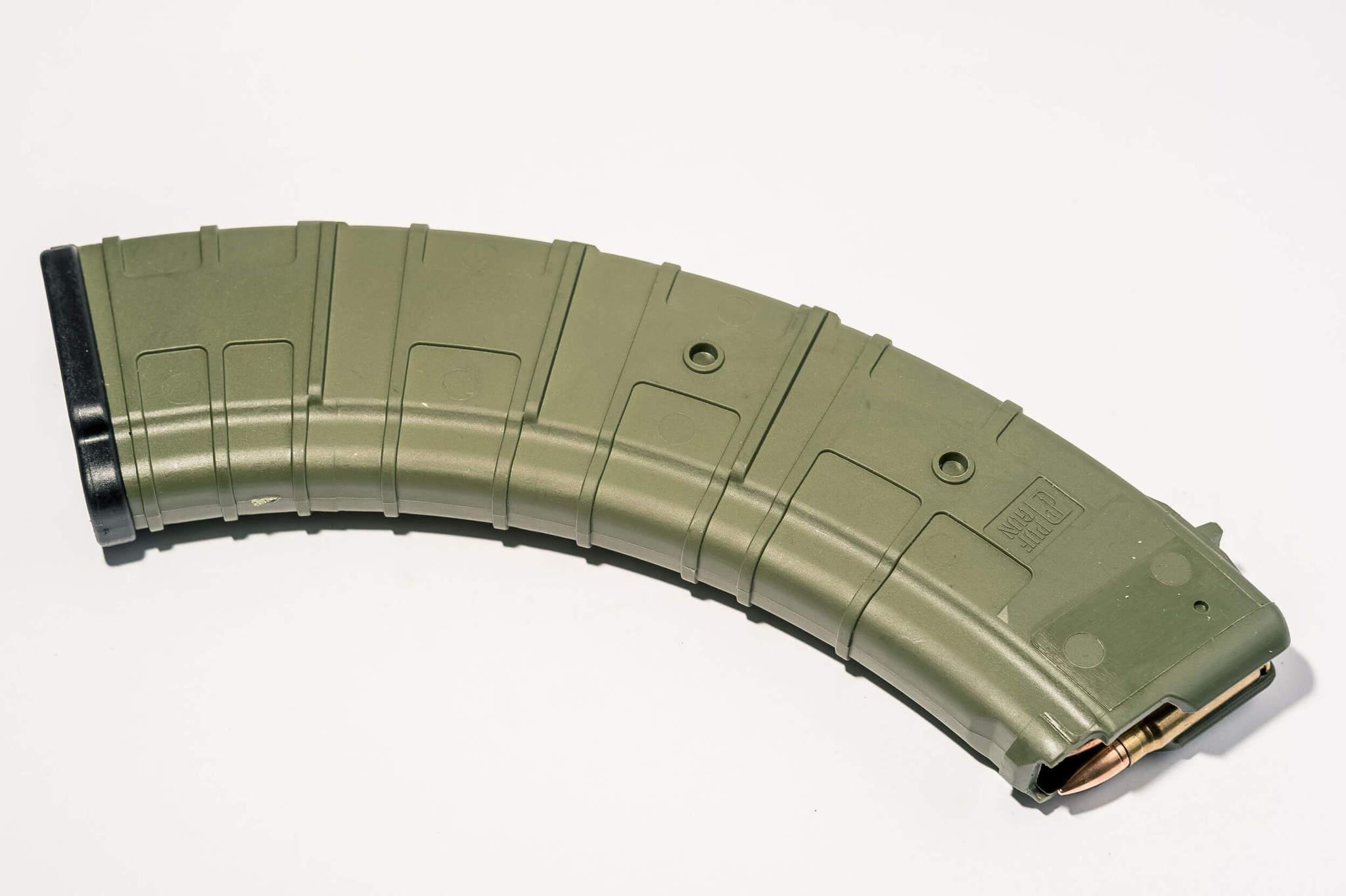 Магазин Pufgun для АКМ 7.62x39 ВПО-136 ВПО-209 на 40 патронов, цвет олива