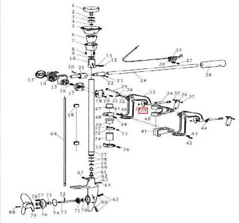 Шайба винта зажима струбцины для лодочного мотора T3,5 Sea-PRO
