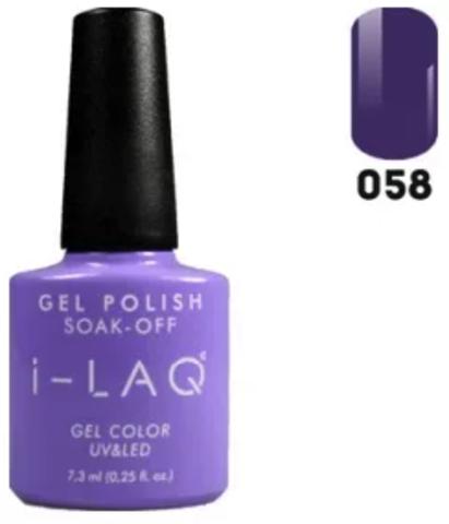 Гель лак для ногтей I-laq  058, 7,3 мл.