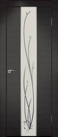 Дверь Гранд (зеркало с рисунком) (венге, зеркало экошпон), фабрика Zadoor
