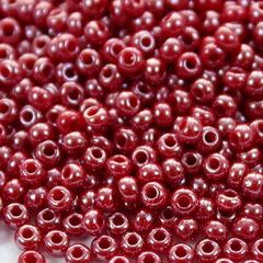 98210 Бисер 9/0 Preciosa Керамика блестящий бордово-красный