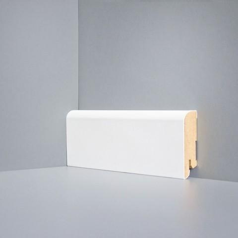 Белый ламинированный плинтус DEARTIO U102-60