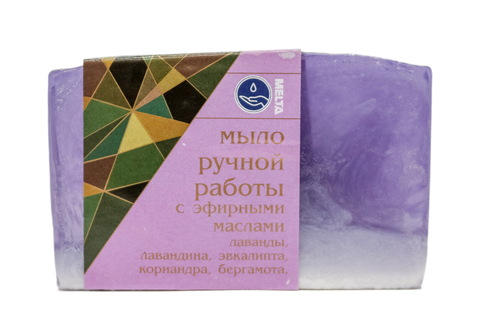 Melta Мыло ручной работы с эфирными маслами Лавандовое 100гр