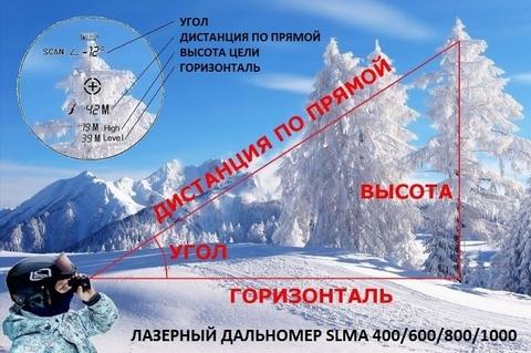 ЛАЗЕРНЫЙ ДАЛЬНОМЕР SLMA 800 GREEN