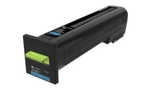 Картридж повышенной емкости для принтеров Lexmark CS820 голубой (cyan). Ресурс 22000 стр (72K5XCE)