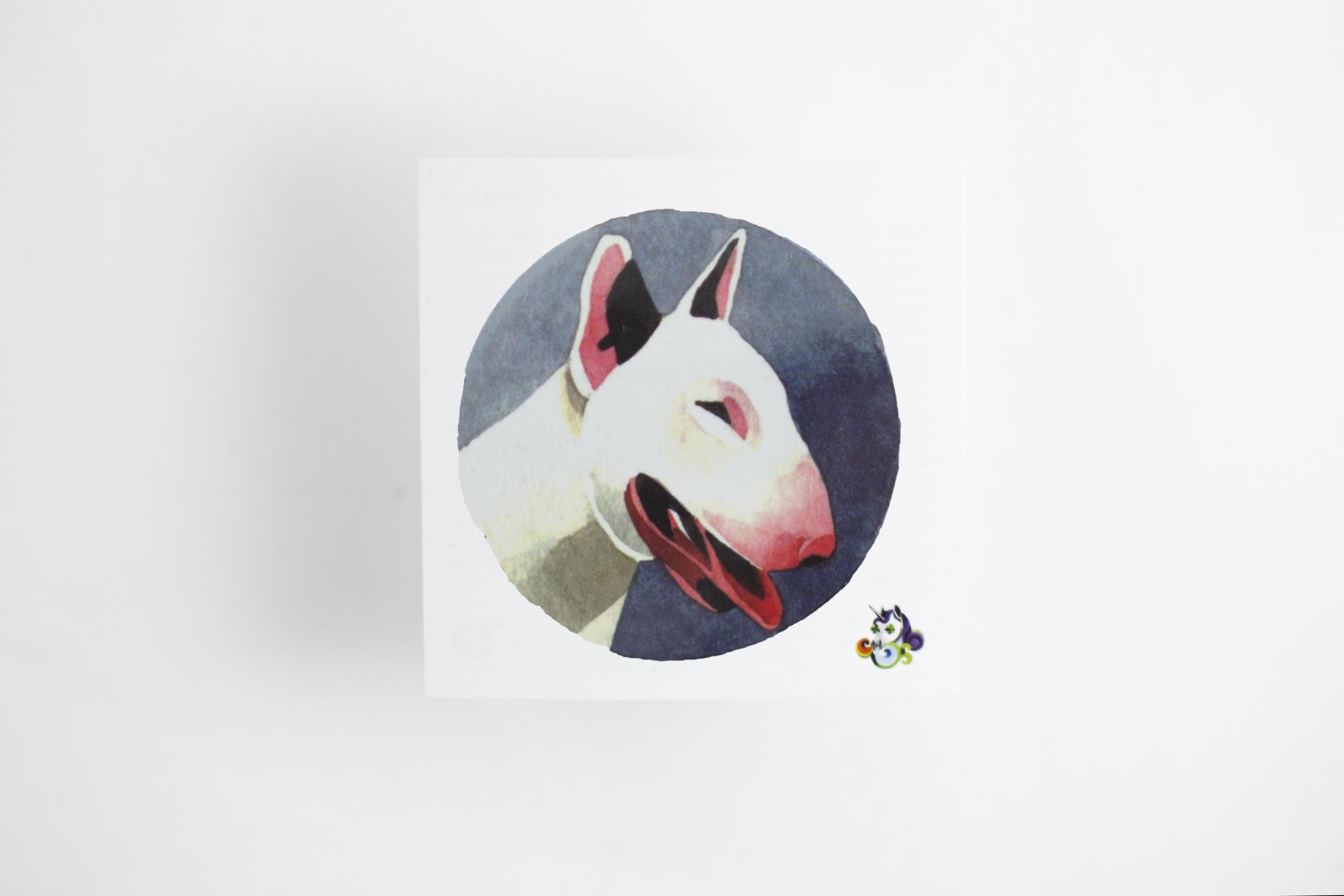 Переводная татуировка Bull Terrier