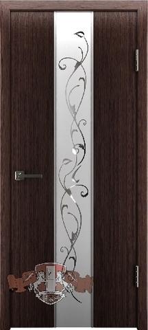 Дверь Владимирская фабрика дверей Токио зеркало2 16ДО7 , цвет венге тёмный, остекленная