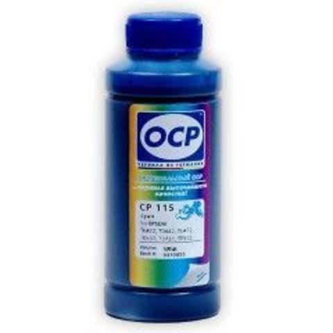 Чернила OCP CP115 Cyan для картриджей Epson T0922, T0732, T0632, T0472, T0442, T0422, 100 мл